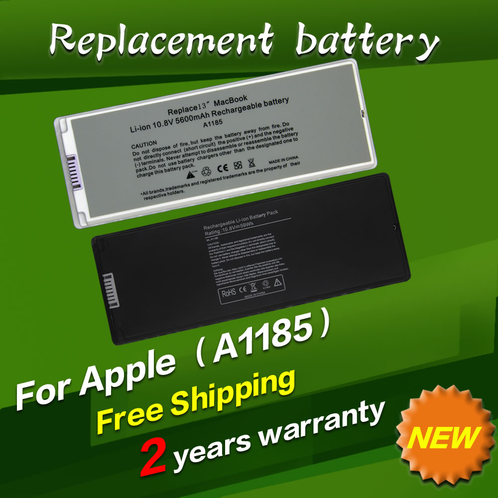 JIGU White Laptop Battery For apple MA566 A1185 MA566FE/A MA566G/A MA566J/A For MacBook 13 A1181 MA472 MA701