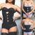 2016 Nova Moda feminina Zipper Slim Fit Cintura Látex Cincher Bodyshaper Corset Top Slimming Shaperwear
