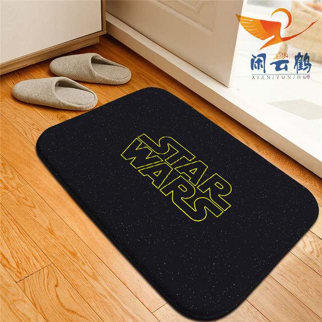 Star Wars Printed Floor Mats Anti Slip Rugs Darth Vader Stormtrooper Carpets  Front Door Doormat