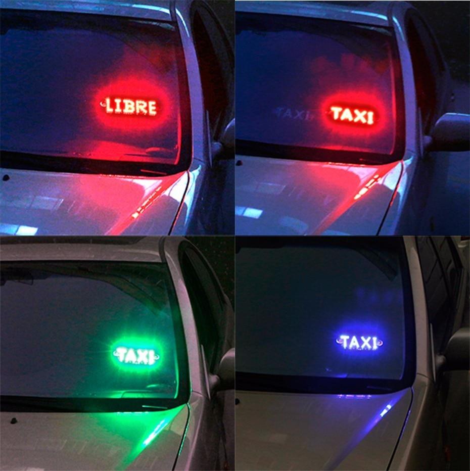 LVTUSI 1pc Taksi LIBRE Lampalı LED Lisenziya Plitəli Avtomobil - Avtomobil işıqları - Fotoqrafiya 6