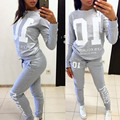 jogger gymshark long sleeve sweatshirt pants 2 piece set Women Casual Set two piece set  suit  conjunto chandal mujer completo