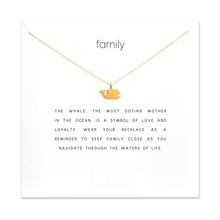 Fashion Whale Pendant Necklace Women Minimalist Clavicle Chain Fish Choker Necklaces Valentine's Day Gift Card mothers day fashion butterfly pendant necklace women minimalist clavicle chain statement choker necklaces valentine s day gift card