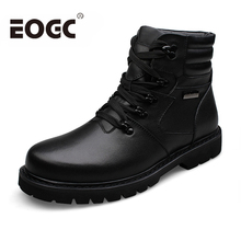 Genuine leather Winter Men Boots Russian Style Full Grain Leather boots Rabbit hair Handmade Men Snow ankle Boots Plus size dekabr 2018 new handmade men genuine leather winter boots high quality snow men boots ankle boots for men plus big size 36 47