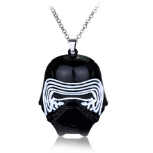 Hot Movie Star Wars 7:The Force Awakens necklace members of the Dark Knight Han Solo's son Kylo Ren/Ben Solo mask pendant saintgi saintgi star wars the force awakens kylo ren action figure pvc 16cm model toys kids gifts collection free shipping