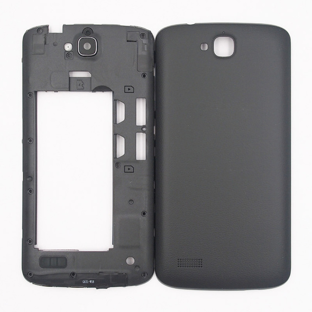 huge discount e1ea0 82ba6 US $7.69 9% OFF|BaanSam New Middle Frame Battery Door Back Cover Housing  Case For Huawei Honor 3c Lite Holly U19 With Antenna+Camera Lens-in Phone  ...