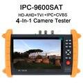 Frete grátis! IPC9600SAT 7 ''Touch Screen câmera Onvif IP HD-AHD/TVI Analógico Monitor Da Câmera Tester 12 V