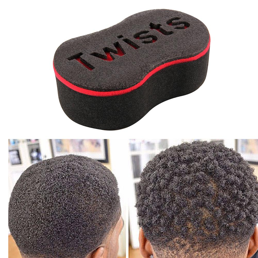 Romantic Double Sided Barber Hair Brush Sponge Dreads Locking Twist Coil Afro Curl Wave Curling Irons