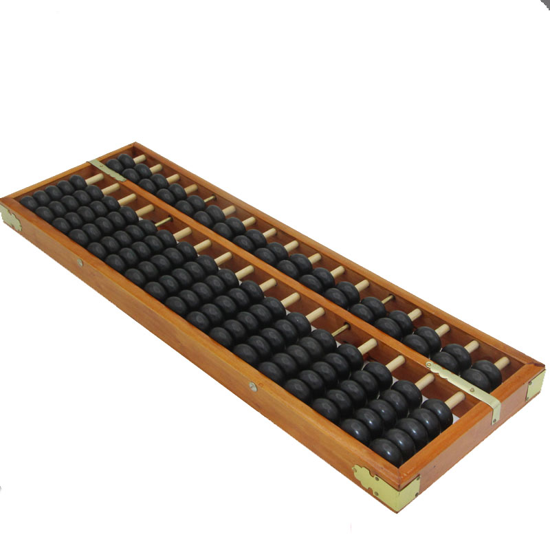 17 colonne en bois boulier chinois soroban outil en mathématiques éducation outil de calcul yo020