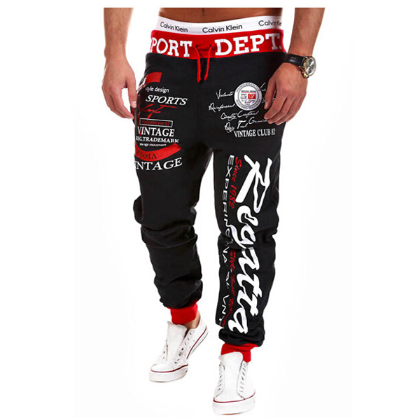2016 Hot Sale Men Fashion  Pants Casual Style Sweatpants  Digital Printing