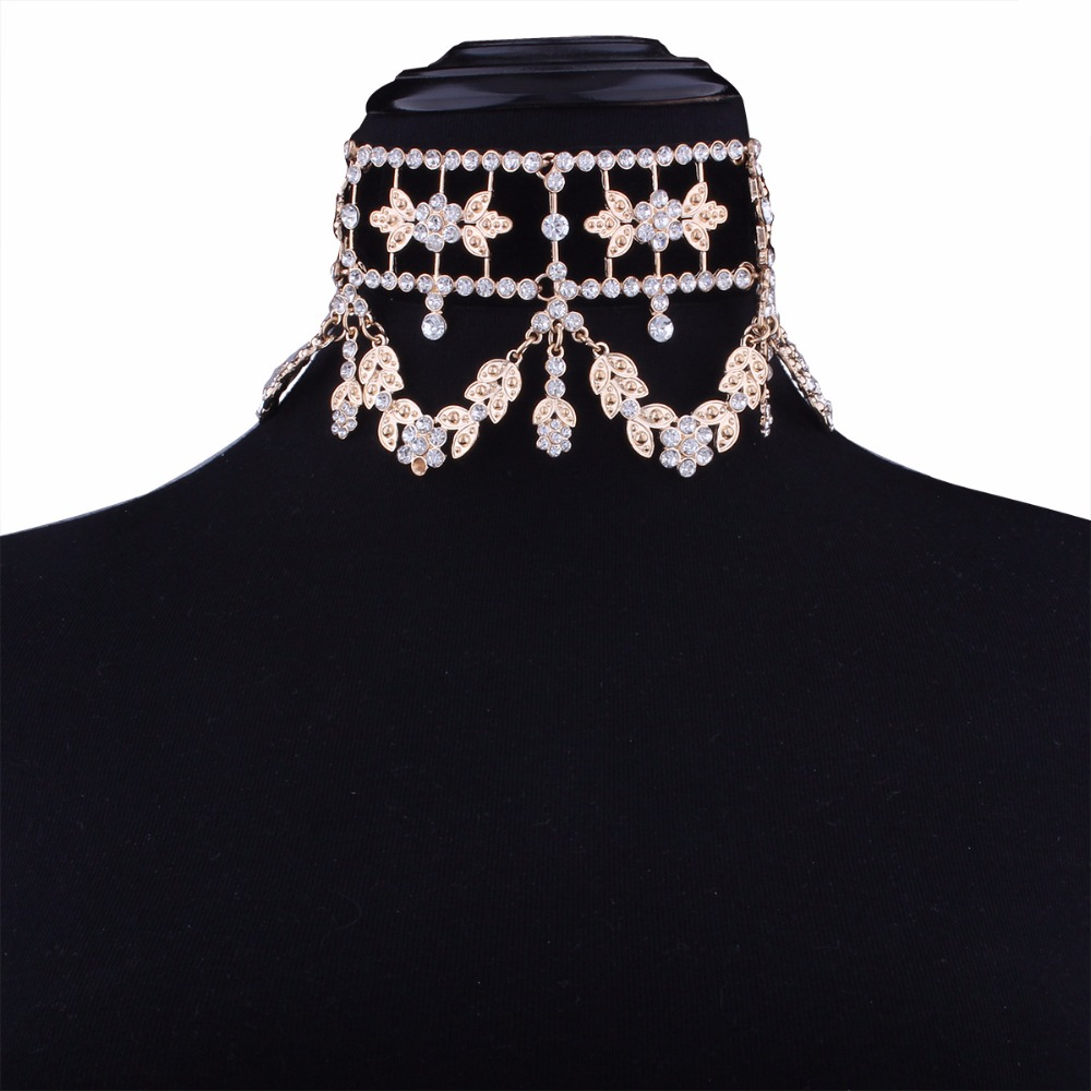 KMVEXO 2017 Fashion Crystal Rhinestone Choker Necklace Velvet Statement Necklace for Women Collares Chocker Jewelry Party Gift 13