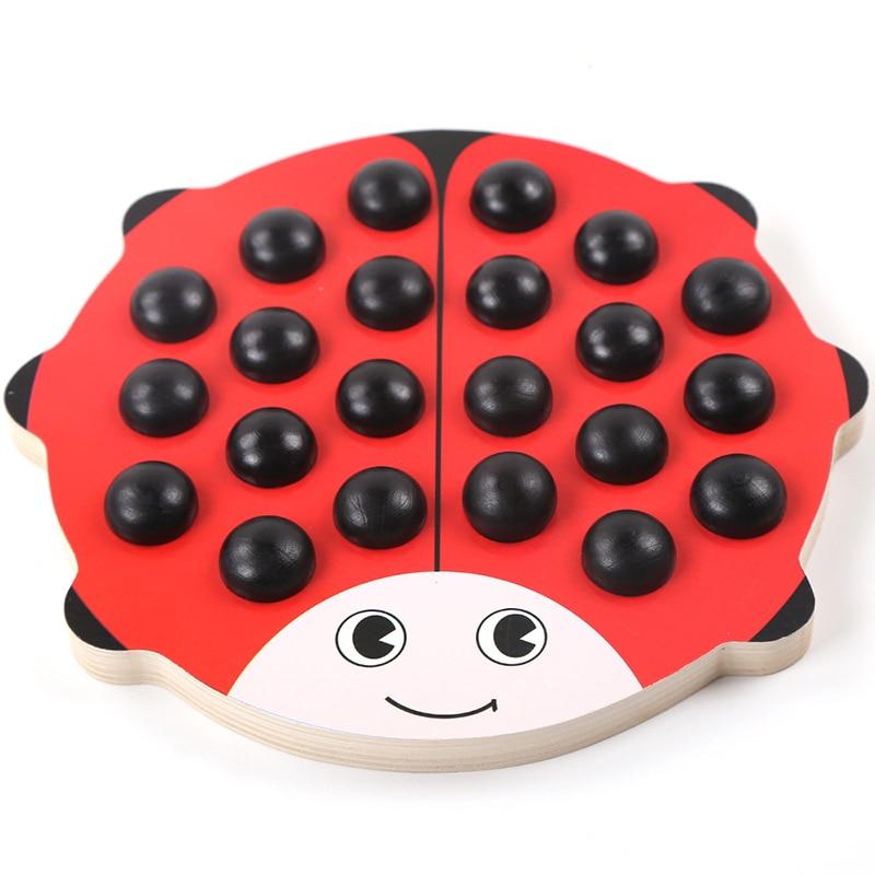Baby Wooden Beetles Memory Chess Red Board 22 дана. - Дизайнерлер мен құрылыс ойыншықтары - фото 2