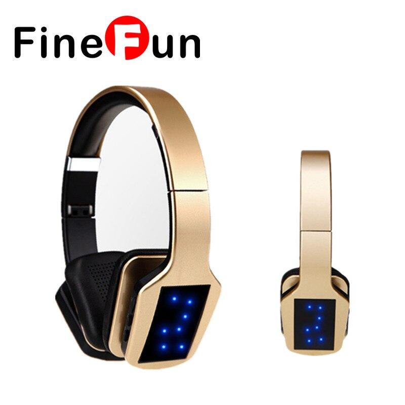 ФОТО FineFun S650 Bluetooth Stereo headphone FM Radio Music Earphone Wireless Headset Handsfree Support TF Card With Mic