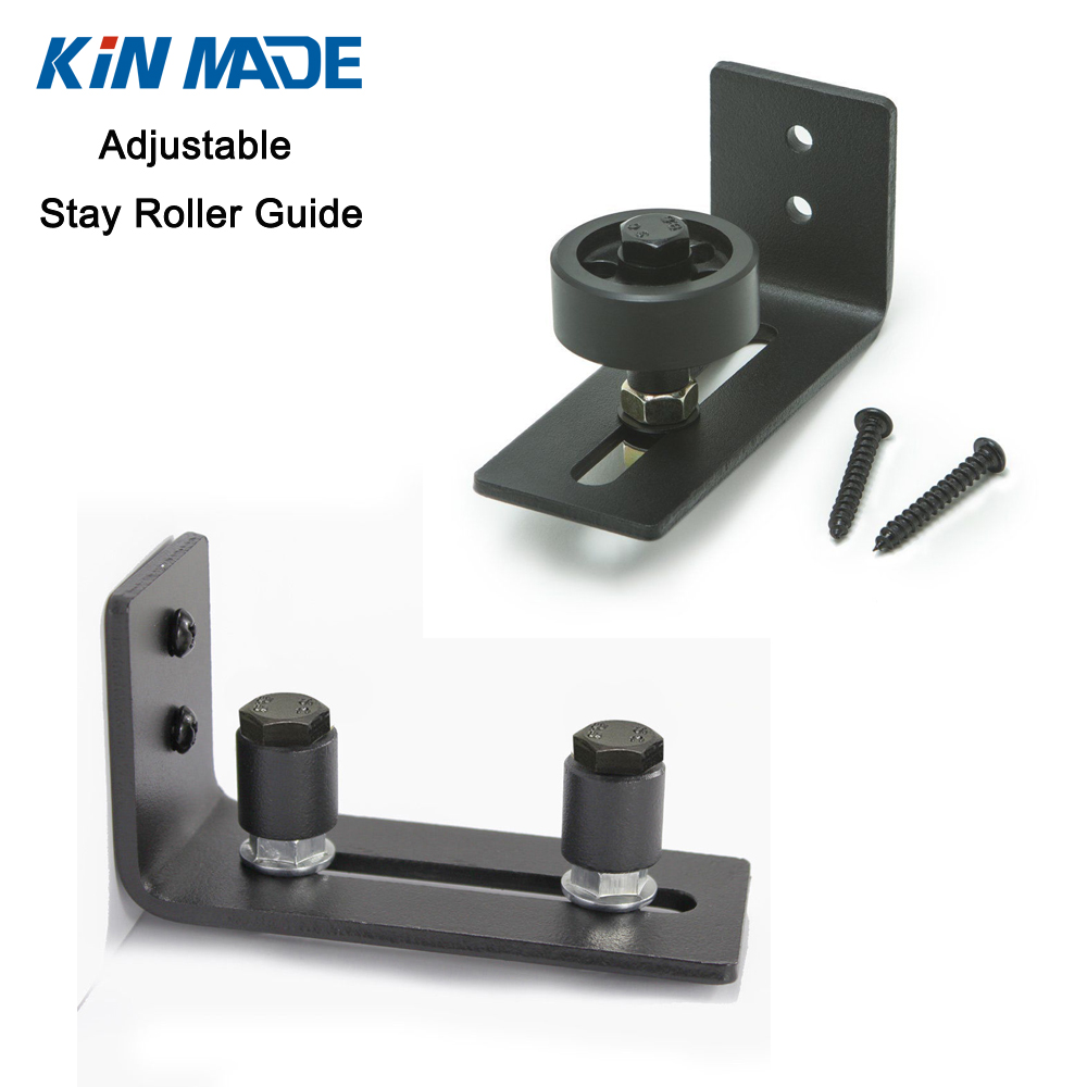 Buy black powder coated bottom guide stay for Sliding door rollers