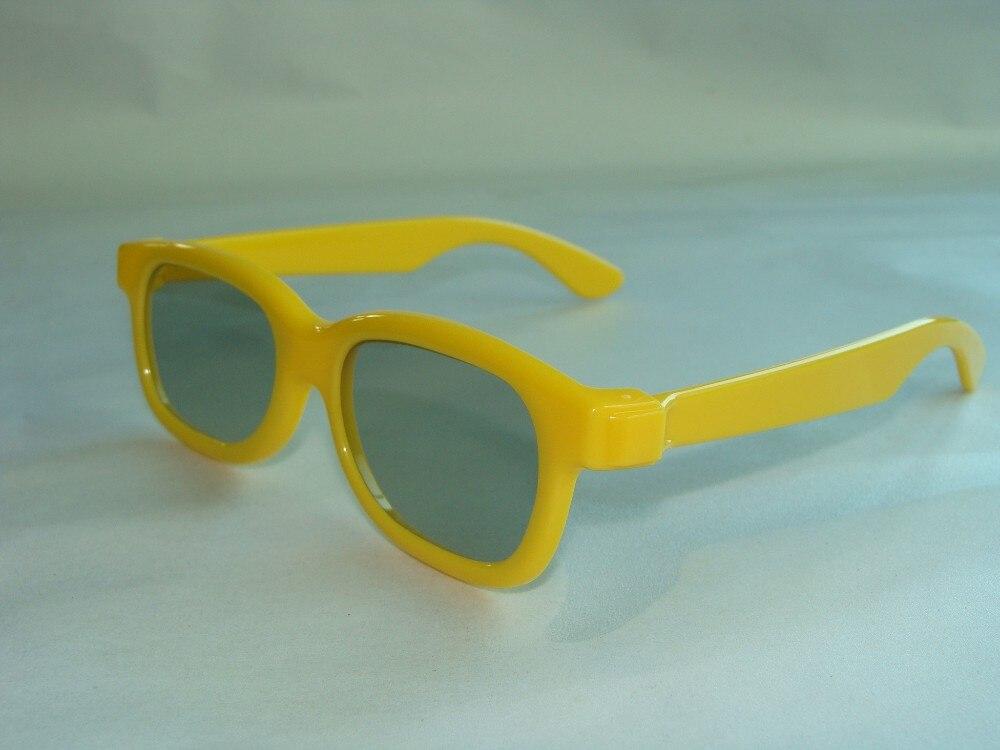 50tk / partii Kollane LASTELE 3D-prillid lineaarsed polarisatsioonid - Kaasaskantav audio ja video - Foto 3
