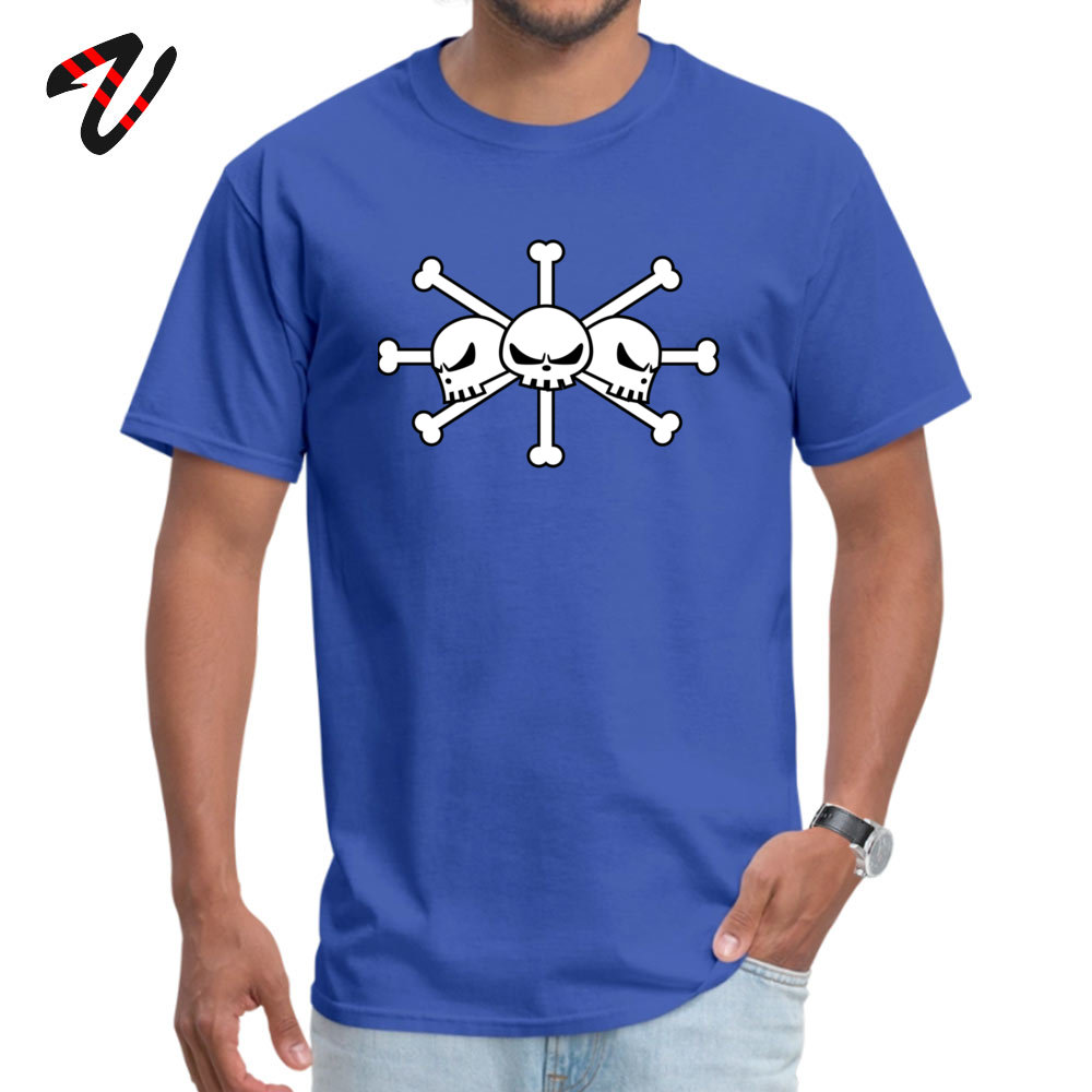 Geek Short Sleeve Tees Labor Day Round Neck Pure Cotton Men Top T-shirts BlackBeard Jolly Roger Geek Tops T Shirt Cheap BlackBeard Jolly Roger 2920 blue