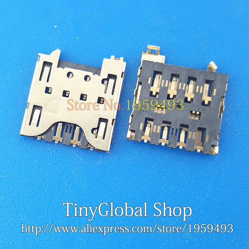 2pcs/lot XGE New Sim Card Reader Connector Holder Tray Slot Socket Replacement For Blackberry Z10 Q10 Top Quality