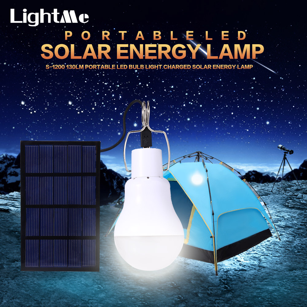 Newly Useful Energy Conservation S-1200 15W 130LM Portable Led Bulb Light Charged Solar Energy Lamp Home Outdoor Lighting Hot цена