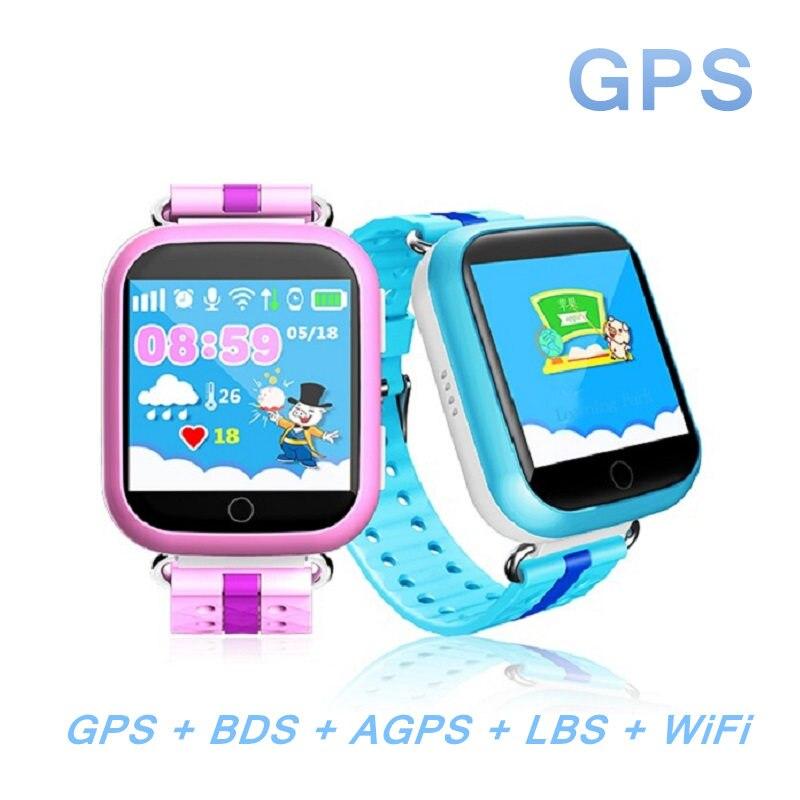 GPS montre smart watch Q750 Q100 bébé montre 1.54 pouces écran tactile avec Wifi SOS Appel Dispositif de Localisation Tracker pour Kid Safe PKQ60 Q80 Q90