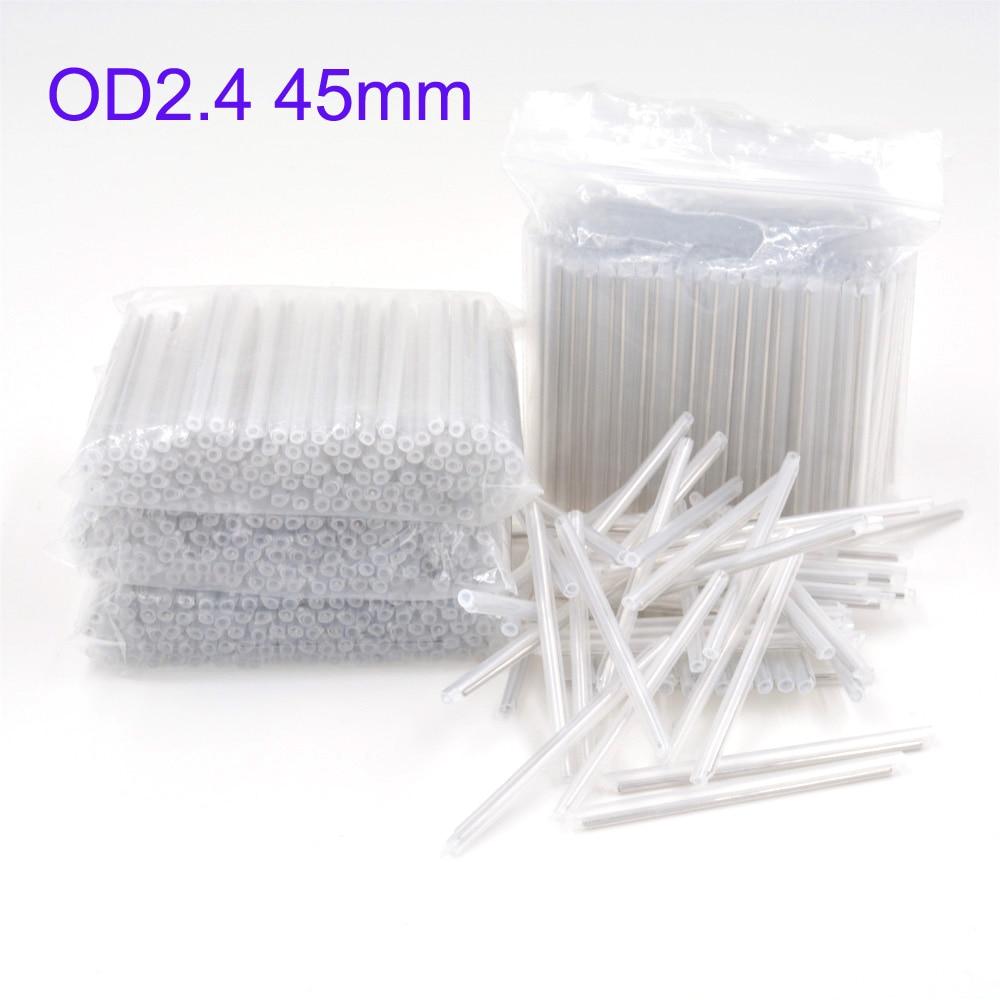 2500pcs OD 2 4mm 45mm Bare Fiber Optic Fusion Protection Splice Sleeves Heat Shrinkable Tube Fiber