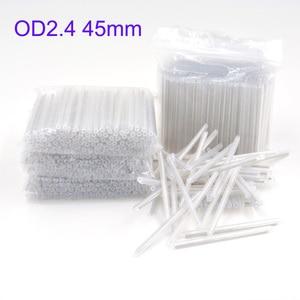Image 1 - 2500 pcs od 2.4mm 45mm 베어 광섬유 융합 보호 스플 라이스 슬리브, 열 수축 튜브 광섬유 핫멜트 튜브