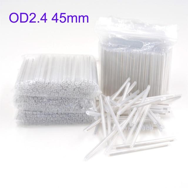 2500 pcs od 2.4mm 45mm 베어 광섬유 융합 보호 스플 라이스 슬리브, 열 수축 튜브 광섬유 핫멜트 튜브