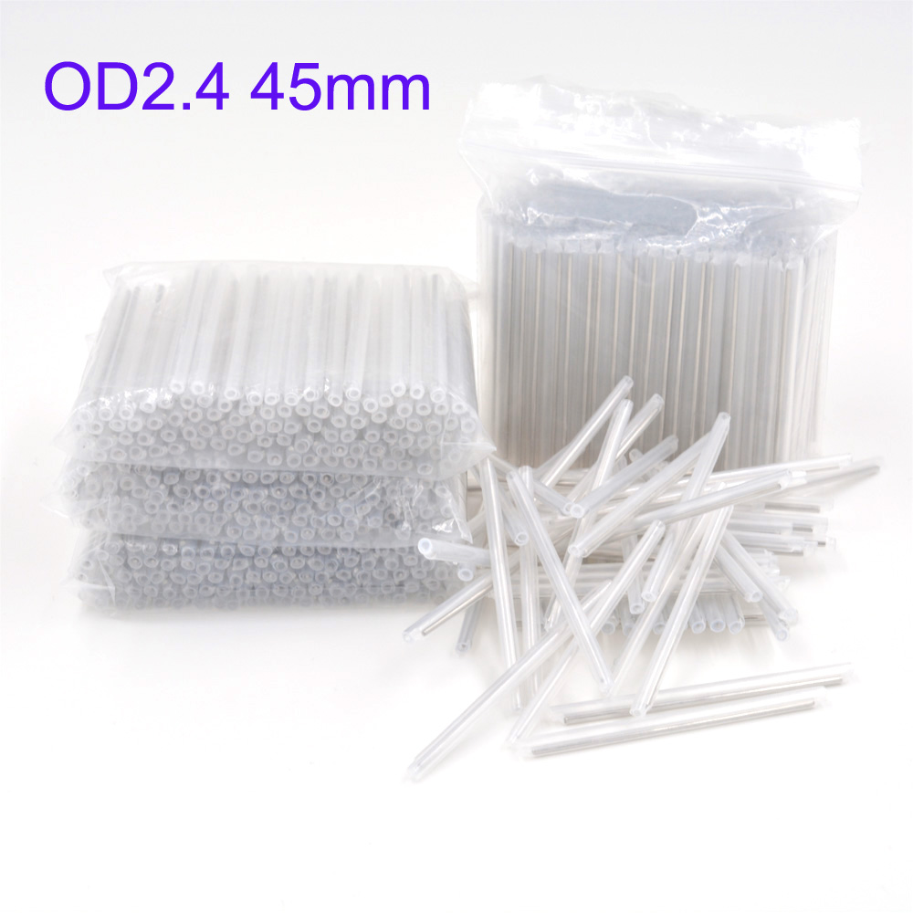 2500pcs OD 2.4mm 45mm Bare Fiber Optic Fusion Protection Splice Sleeves ,Heat Shrinkable Tube Fiber Optic Hot Melt Tube