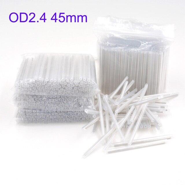 Fundas de empalme de protección de fusión de fibra óptica desnuda 2500pcs OD 2,4mm 45mm, Tubo termorretráctil tubo de fusión en caliente de fibra óptica