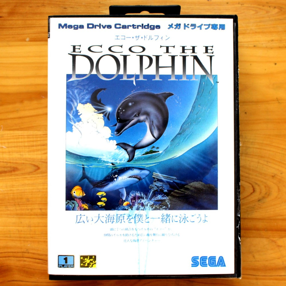 Ecco The Dolphin 16 Bit SEGA MD Game Card With Retail Box For Sega Mega Drive For Genesis image