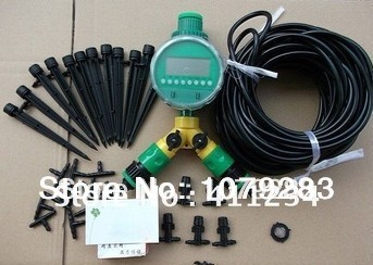 NEW ARRIVAL, 20m drip irrigation tubing + nozzles Drip Irrigation System Micro Drip Irrigation System with controller and timers