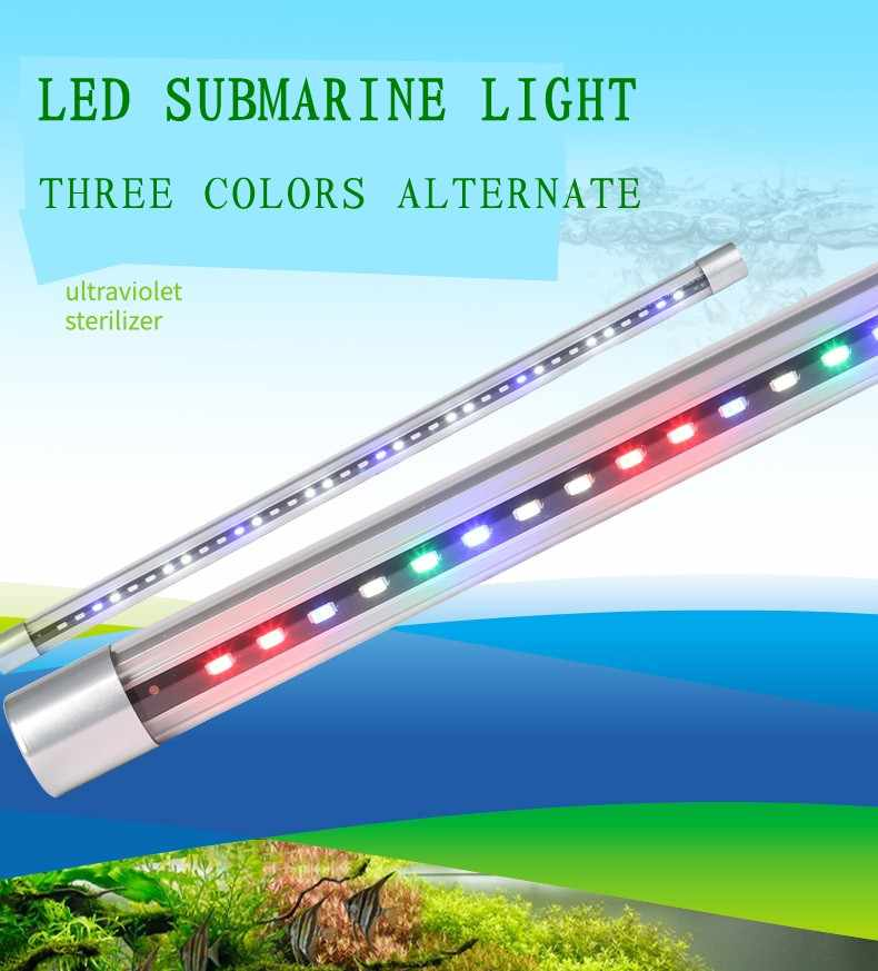 8W10 W12 decorativa T8 W LED acuario iluminación SOBO 0N8wOknXP