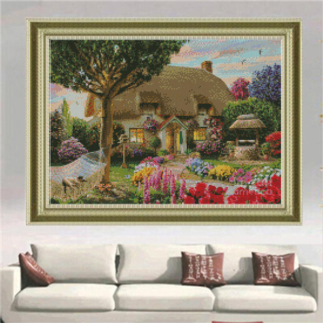 Diamond painting Dream Cottage 40*30 Diy Diamond Drawing crafts Needlework square drill diamond Mosaic pasted Diamond embroidery