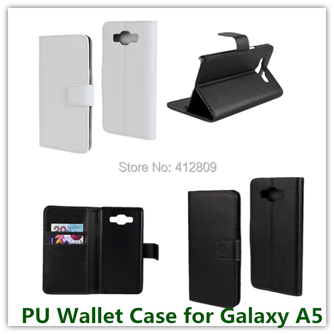 1PCS Hot Sales PU Leather Slot Stand Pouch Wallet Cover Case for Samsung Galaxy A5 with ID Card Holder Stand TV Showed Free