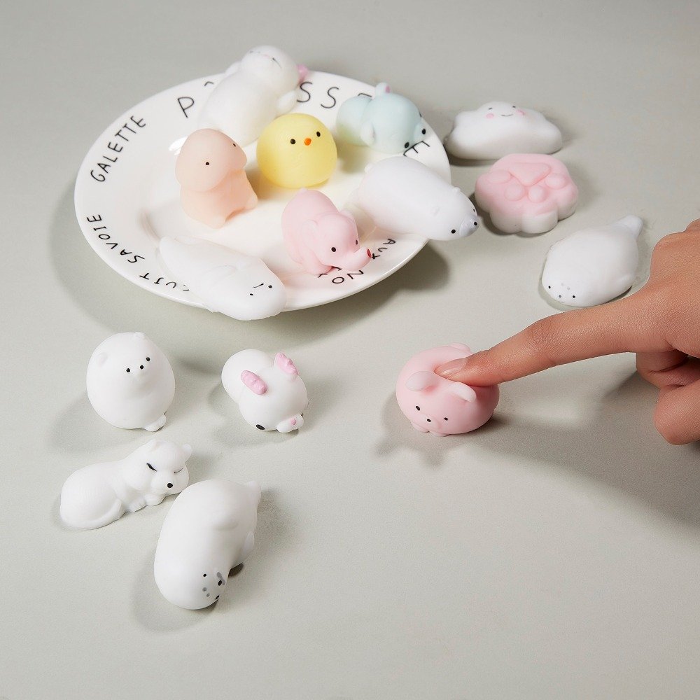 Mini Change Color Squishy Cute Cat Antistress Ball Squeeze Mochi Rising Abreact Soft Sticky Stress Relief Funny Toy year Gift