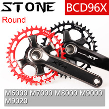 Stone 96 BCD Round Chainring for Shimano M7000 m8000 m9000 30t 32t 34t 36 38 40 44 46 48T MTB Bike Chainwheel Tooth Plate 96bcd цена