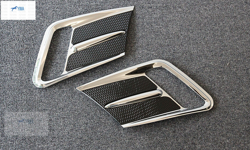 Chrome ABS Front Fog Lamp Light Cover Trim font b accessories b font For Volvo XC60