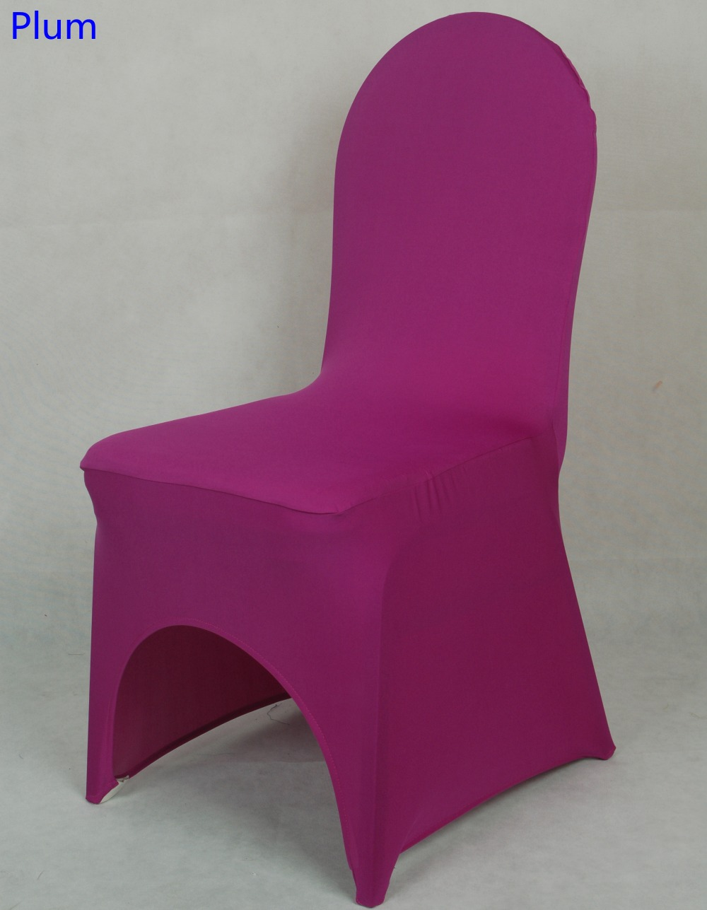 Colour Plum Lycra Universal Chair Cover For Wedding