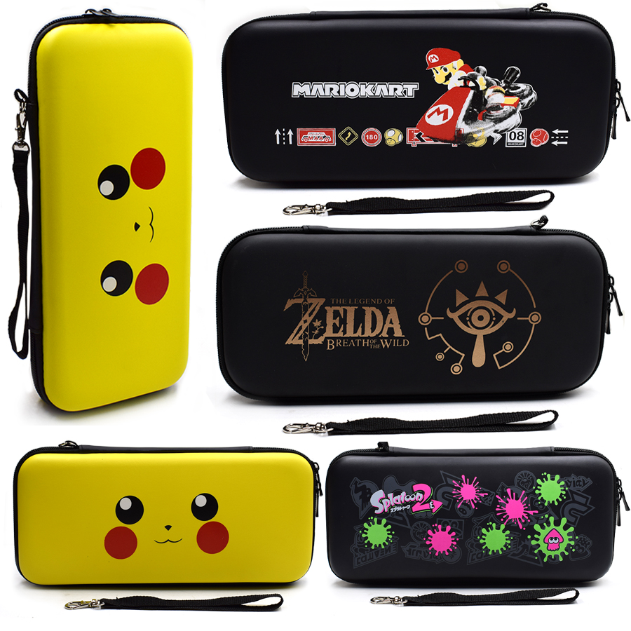 5 in 1 Nintend Switch NS Accessories Kit Protective Cover Carrying Case Bag with Slicone Case Analog Caps for Nintendo Switch 4