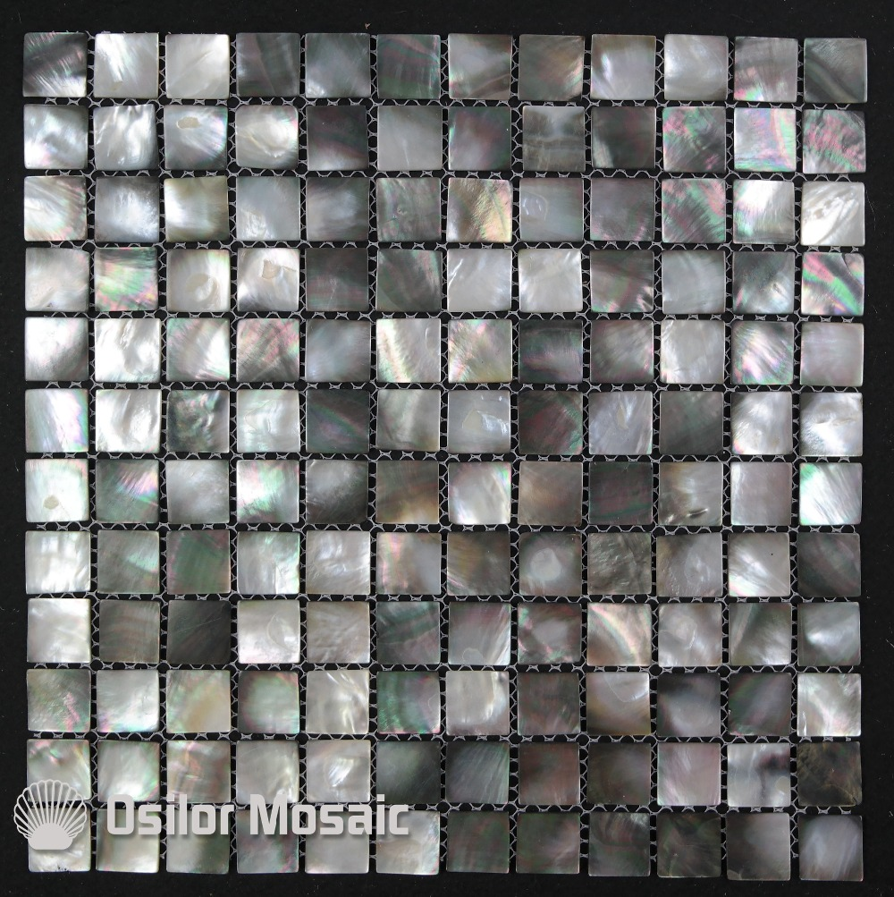 Free Shipping 100% Blacklip Sea Shell Natural Black Color Mother Of Pearl Mosaic Tile For Interior House Decoration Wall Tiles
