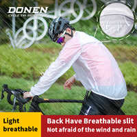 Chaqueta impermeable de Ciclismo de DONEN para hombre, impermeable, para bicicleta de montaña, para hombre, chaqueta de viento, para bicicleta de carretera, impermeable, Ropa para Ciclismo
