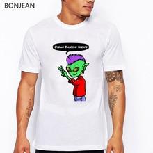 2019 summer shirt men fashion rainbow alien print white t mens tshirts top clothes tee homme cool streetwear