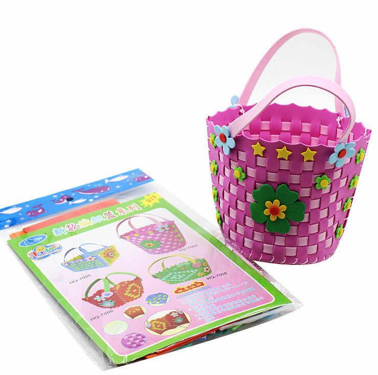 Happyxuan 8 projetos/lote Crianças DIY Art Craft Kits Set Brinquedo Educativo Espuma EVA Adesivos Jardim de Infância Artesanal Criativa Meninas presente