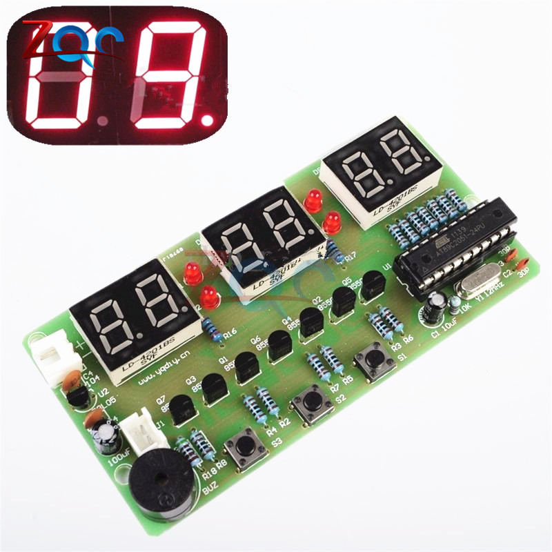 цена на C51 Digital Electronic Clock Suite DIY Kit Six 6 Bits Electronic Parts and Components Eletronicos Electronic DIY Kit