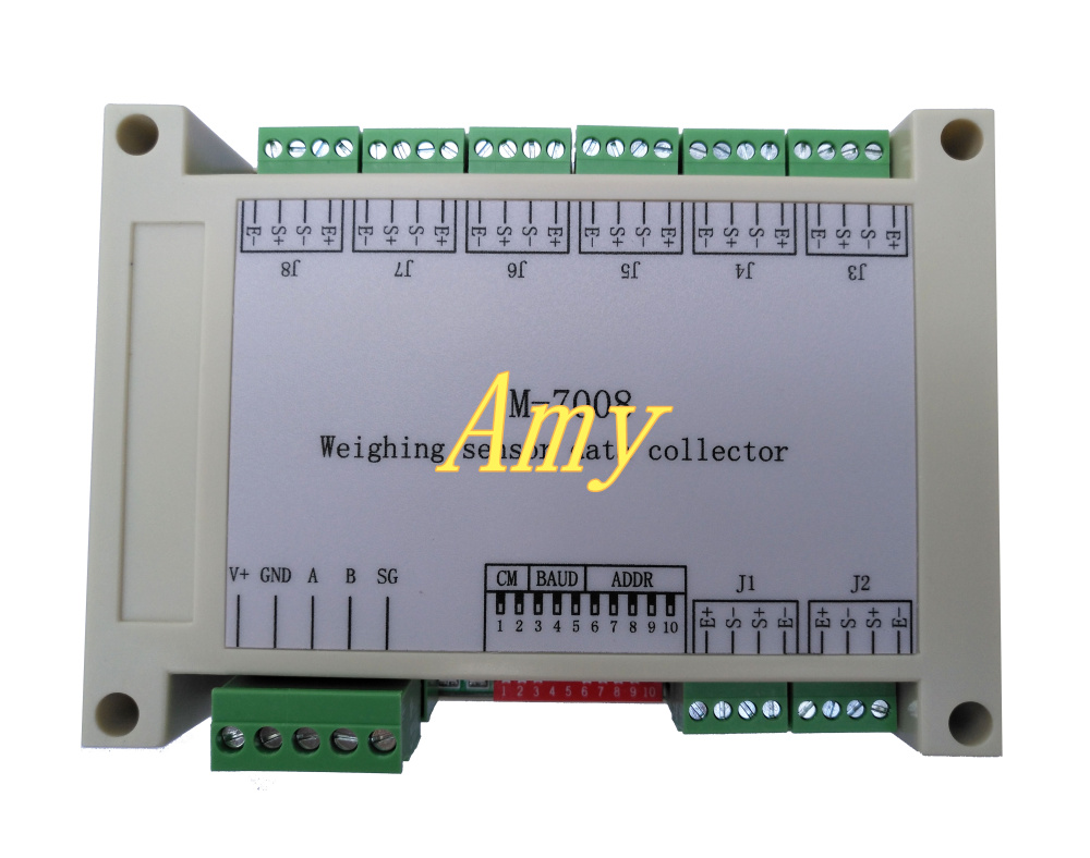 M-7008 RS485 Based 8 Way Weighing Sensor Acquisition Module Differential Input