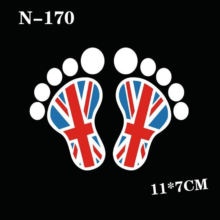 Stiker mobil reflektif decal untuk mini cooper, Countryman r60 R61 union jack merah aksesoris