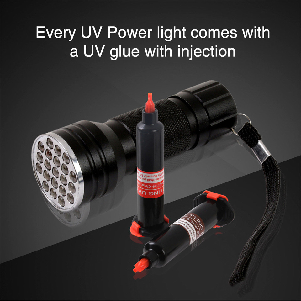 MAXIMUMCATCH Fliegenbinden UV Licht /& UV Klebstoff Injektion Combo