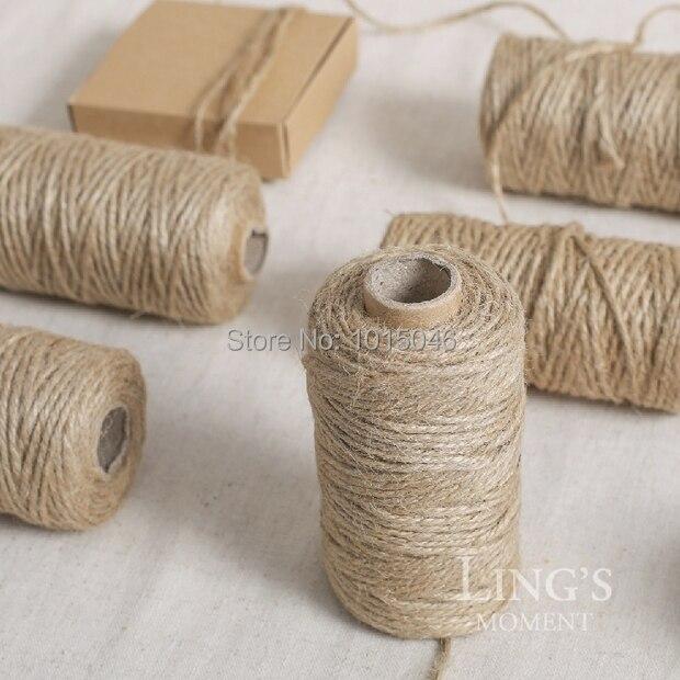 Бесплатная доставка 50 м/roll ZAKKA Природный пеньковая веревка DIY ручной веревки тег веревку Свадебные дома Accesspries