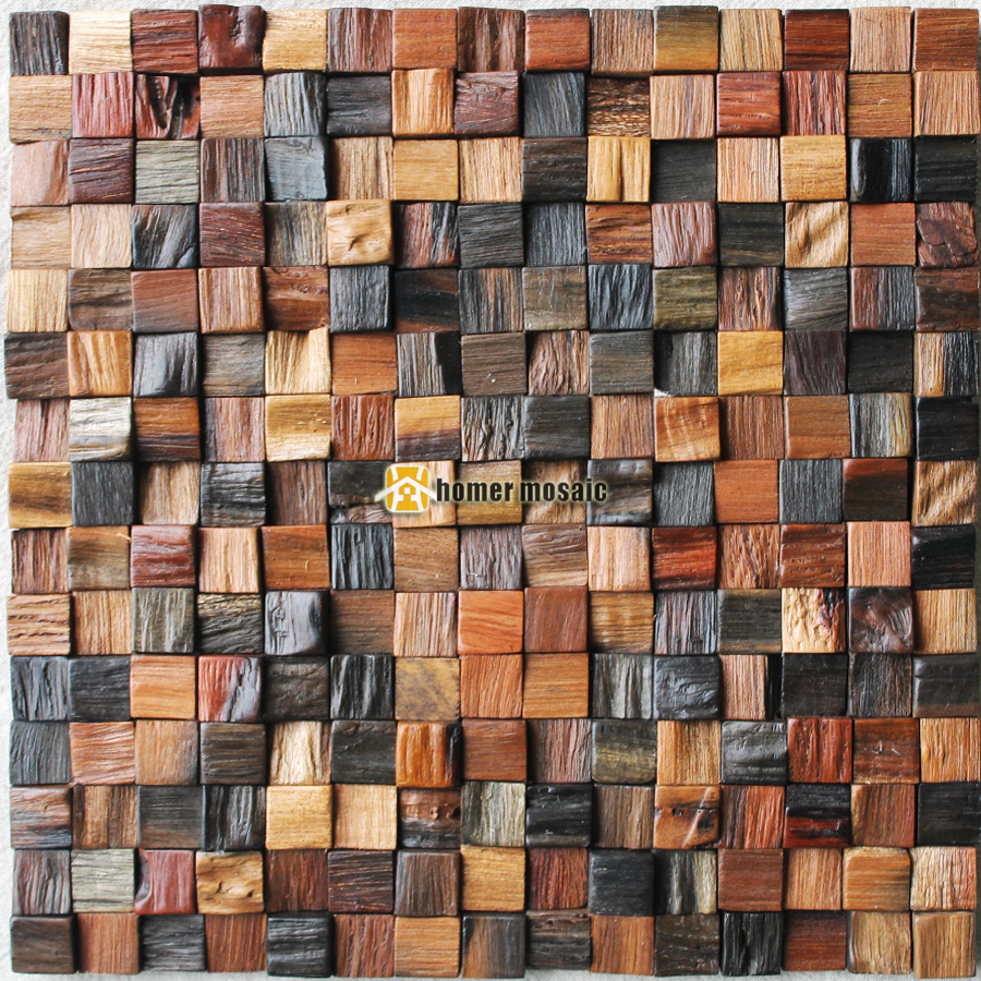 3d natural wood mosaic old ship wood tiles natural wood wall mosaic hs6009 for bar background backsplash kitchen wall in wallpapers from home improvement on