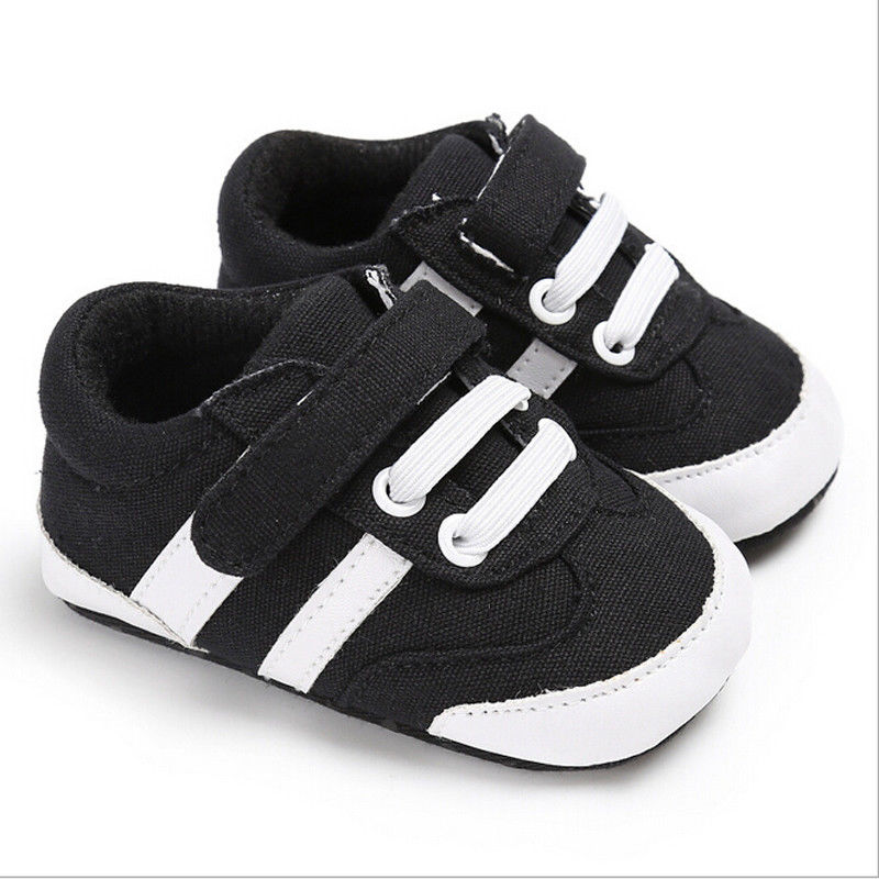 Newborn Baby Boys Girls Shoes Casual Cotton Crib Sneakers Soft Sole White Muti Color First Walker