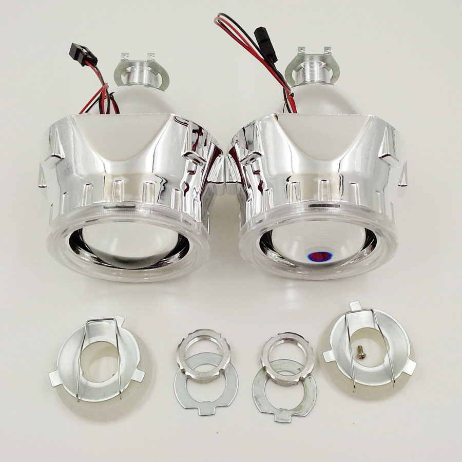 ФОТО New arrival 2.5inches WST HID Bi xenon Projector Lens with Shourds Parking Car Styling Automobile Headlights H4 H7