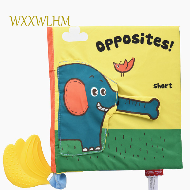 Doux éléphant livre en trois dimensions puzzle éducation précoce dent bande bébé livres en tissu pour enfants en peluche en peluche bébé livre